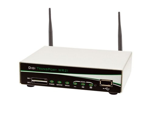 WR21-012B-DE1-SL  TransPort WR21 Cellular Ready, 2 x EN, RS232, NoWiFi, Ent.SW, PS